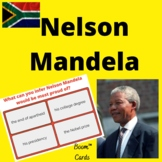 Nelson Mandela Reading Passage and Questions  Boom™ Cards™ -digital