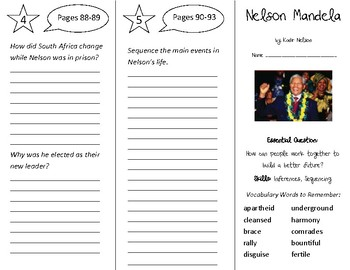 Nelson Mandela Trifold - Open Court 4th Grade Unit 1 Lesson 5