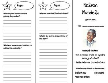 Nelson Mandela Trifold - ReadyGen 6th Grade Unit 3 Module B
