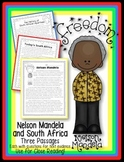Nelson Mandela and South Africa {3 Passages w/ Questions for Text Evidence}