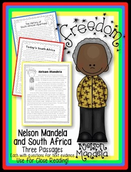 Nelson Mandela and South Africa {3 Passages w/ Questions f