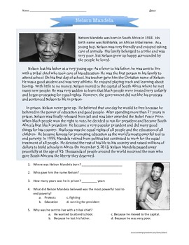 Nelson Mandela biography for children