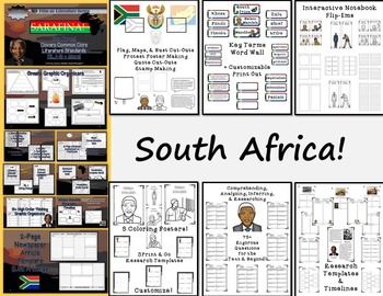 Nelson Mandela by Kadir Nelson Book Study & Sarafina Film Study Bundle