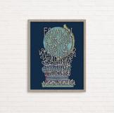 Nelson Mandela inspirational education quote, wall art, po