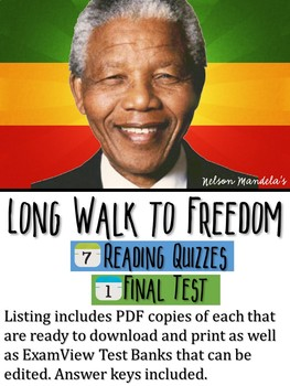 Nelson Mandela's Long Walk to Freedom Reading Quizzes & Test