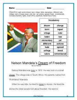Nelson Mandela's Dream of Freedom