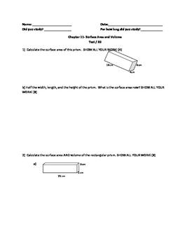 Nelson Math Gr. 7 Chap. 11 Test