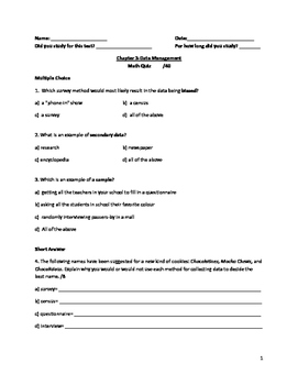 Nelson Math Gr. 7 Chap. 3 Quiz