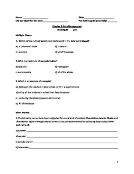 Nelson Math Gr. 7 Chap. 3 Quiz MOD