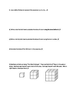 Nelson Math Gr. 7 Chap. 4. Quiz