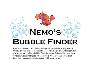Nemo's Bubble Finder (Double Digit plus Single Digit)