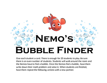 Nemo's Bubble Finder (Double Digit plus Single Digit)