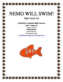 Sight Word: will  NEMO WILL SWIM!