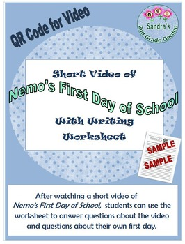 Nemo's First Day of School Short Video and Worksheet