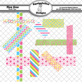 Neo Geo Washi Tape Clip Art