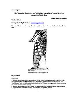 NeoWhimsies Numbers: NeoPopRealism Ink & Pen/Pattern Drawing