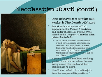 Neoclassicism and Romanticism Art and Literature Powerpoint