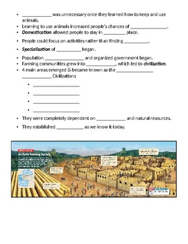 Neolithic Age - Farmers and Herders Powerpoint Worksheet
