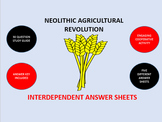 Neolithic Agricultural Revolution: Interdependent Answer Sheets Activity