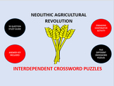 Neolithic Agricultural Revolution: Interdependent Crossword Puzzles Activity