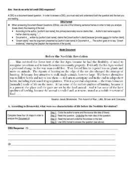 Neolithic Revolution DBQ and Essay
