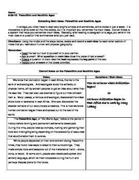 Neolithic Revolution - Guided Notes and Reading Comprehension