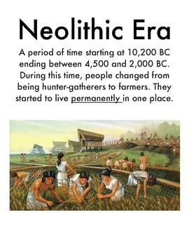Neolithic Vocabulary Sheet