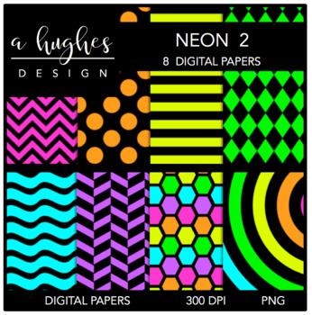 12x12 Digital Paper Set: Neon 2 {A Hughes Design}