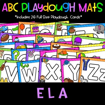 Neon ABC Playdough Mats