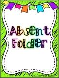 Absent Folder Covers - Neon