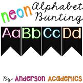 Neon Alphabet Bunting Posters