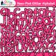 Neon Alphabet Clip Art Bundle {Glitter Letters for Classroom Decor & Resources}