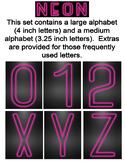Neon Alphabet - Pink