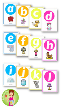 Neon Alphabet Poster Set will engage busy kinder students! $1 DEAL