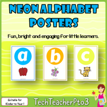 Neon Alphabet Poster Set will engage busy kinder students!
