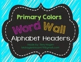 Neon Alphabet Word Wall Headers