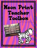 Neon Animal Print Toolbox Labels