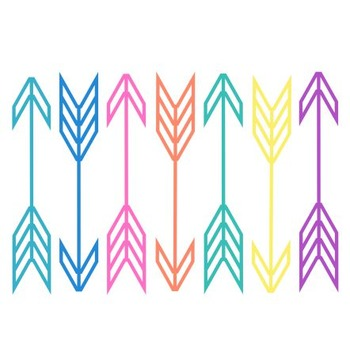 Neon Arrow Clipart,Neon, Arrow Set #191