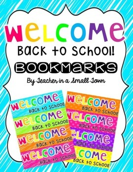 Neon Back to School Bookmarks FREEBIE