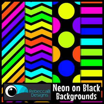 Neon Clip Art (Black)