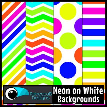 Neon Clip Art (White)