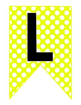 Neon Banner Polka Dot Series