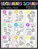 Neon Beginning Sound Alphabet Posters - Ink Friendly
