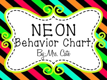 Neon Behavior Chart {two choices}