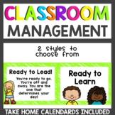 Neon Behavior Clip Chart: Leadership Theme