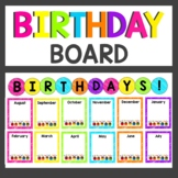 Neon Birthday Board Display and Class Book