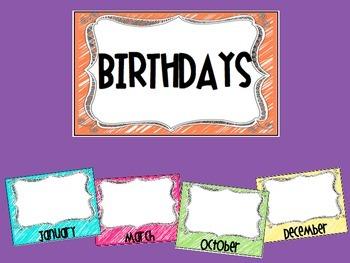 Neon Birthday Posters