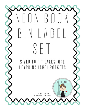 Neon Book Bin Labels for Classroom Library
