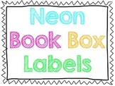 Neon Book Box Labels