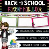 GOOGLE DRIVE Meet the Teacher/Open House/Back to School Handbook - Editable